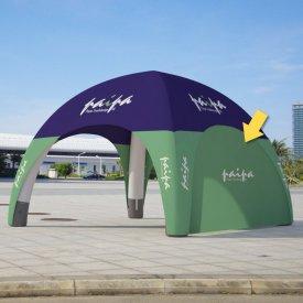 Vägg till uppblåsbart tält 3x3