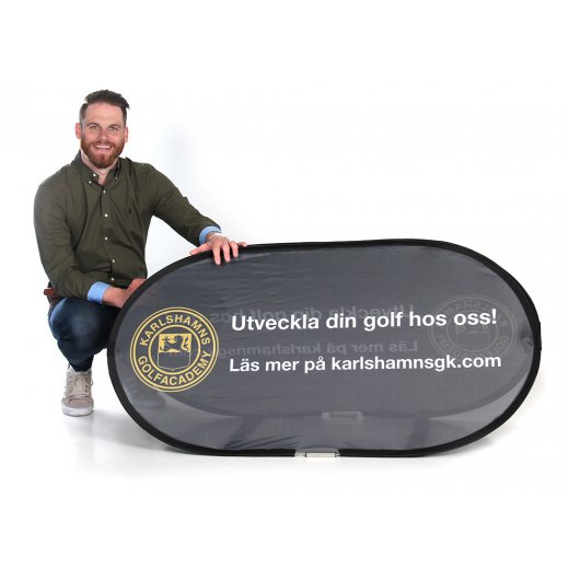 Beach Banner med person