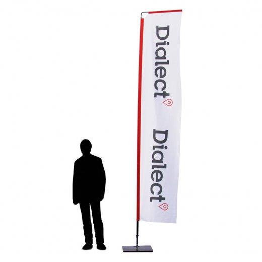 Beachflagga Rak Large med mast